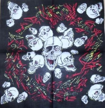 Skull Pattern Design 14 Bandana Head Scarf