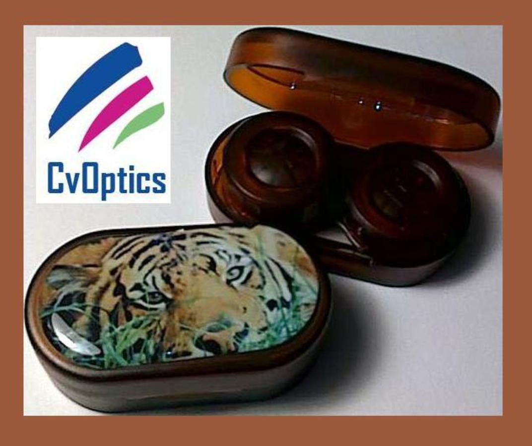 Tiger Endangered Species Contact Lens Soaking Case