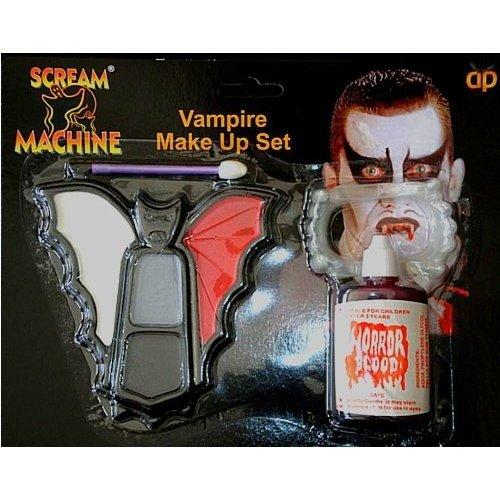 Vampire Make Up, Blood And Teeth Halloween Set