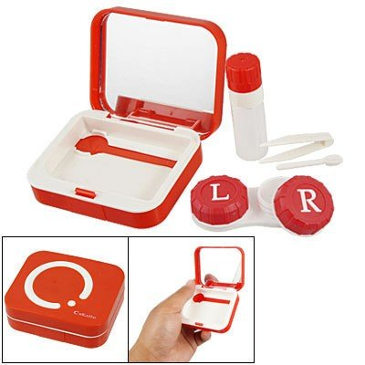 Smart Red Design Contact Lens Travel Kit