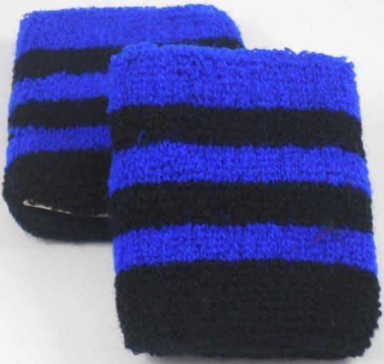 Black and Blue Striped Sweatband / Armbands