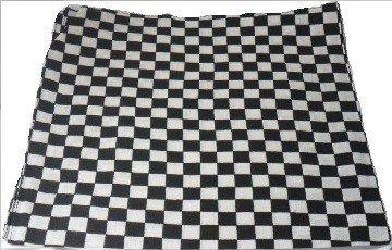 Black and White Checkered Bandana Head Neck Scarf 100% Cotton