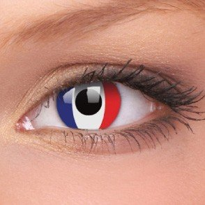 ColourVue French Flag Crazy Contact Lenses