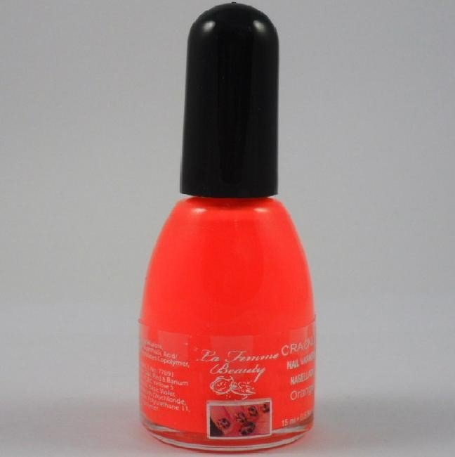 La Femme Crackle Shatter Nail Polish - Neon Orange