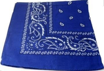 Dark Blue Paisley Bandana Head Scarf
