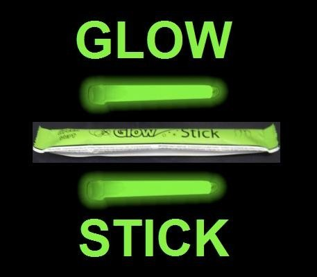 "GREEN 6"" GLOWSTICK for Clubbing Rave Party Glow Sticks"