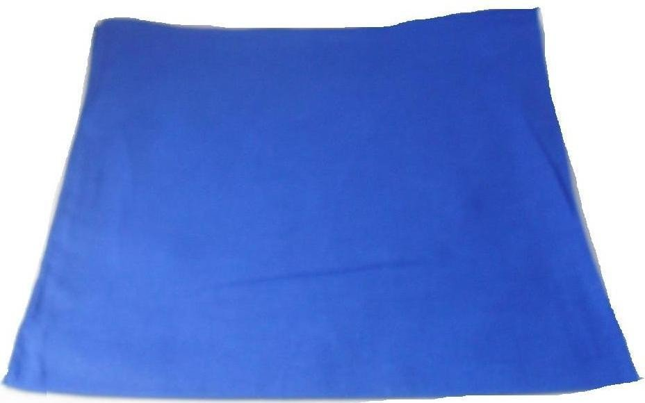 Plain Blue Bandana Head Neck Scarf 100% Cotton