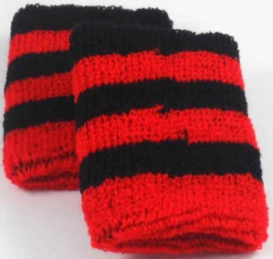 Black and Red Striped Sweatband / Armband