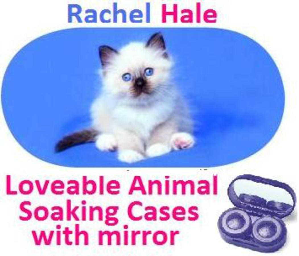 White Kitten Rachel Hale Contact Lens Soaking Case