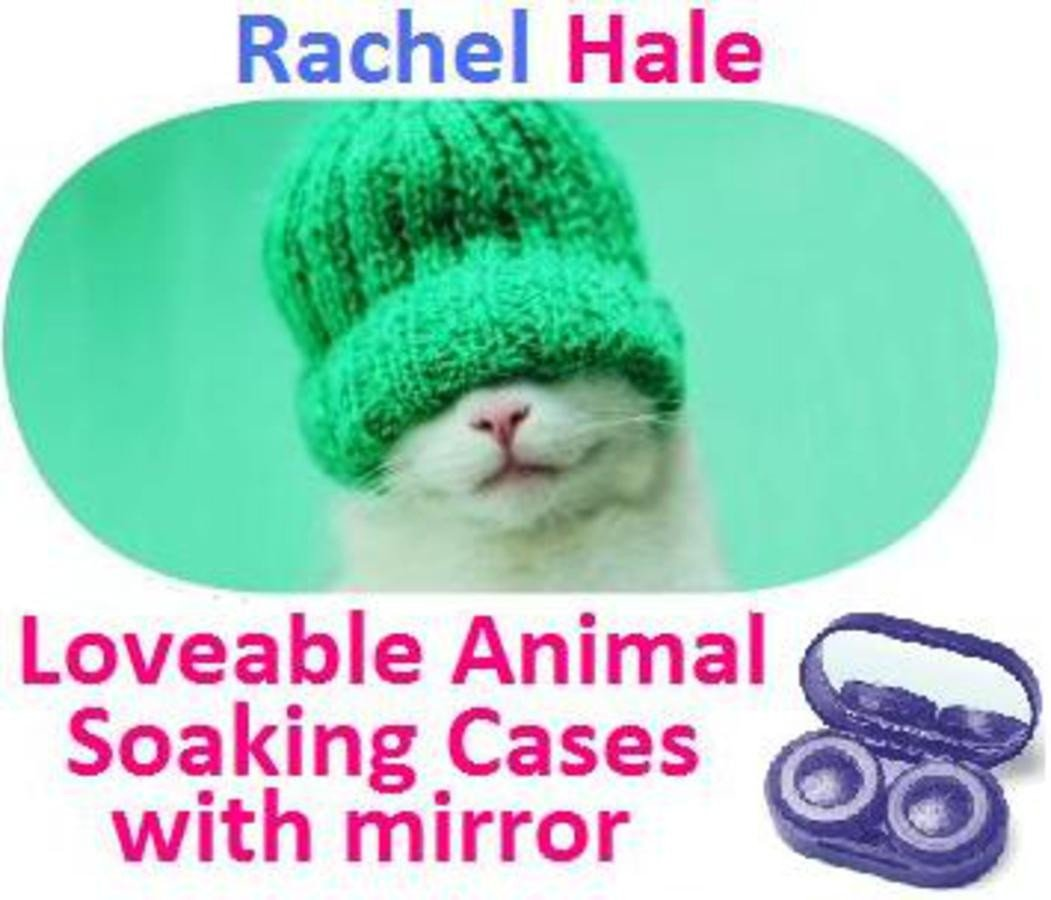 Kitten In a Hat Rachel Hale Contact Lens Soaking Case