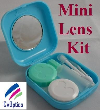 Blue Mini Contact Lenses Storage Lens Travel Kit
