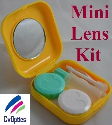 Yellow Mini Contact Lenses Storage Lens Travel Kit