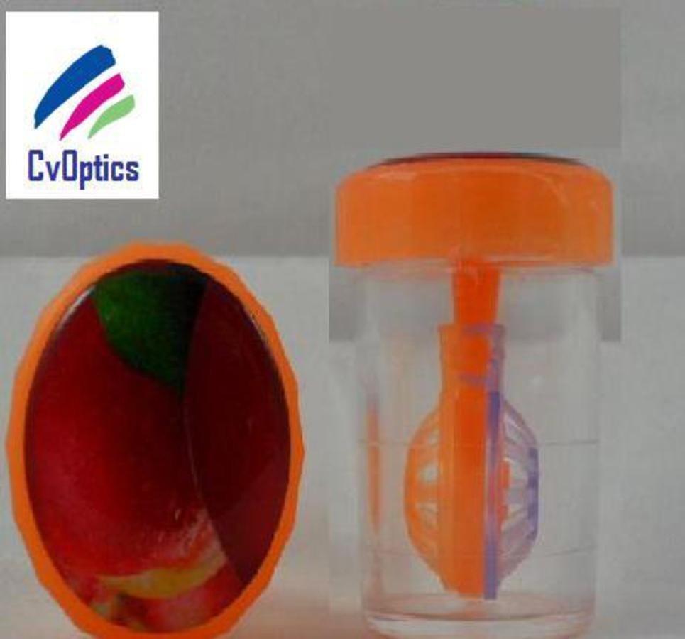 Peach Fruit Contact Lens Storage Soaking Barrel Case