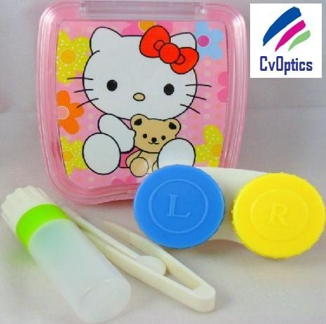 Hello Kitty And Bear Contact Lens Travel Kit / Case