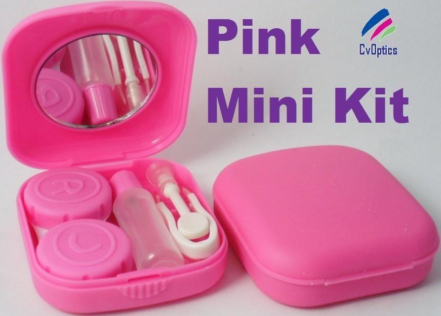 Pink Mini Contact Lenses Storage Lens Travel Kit