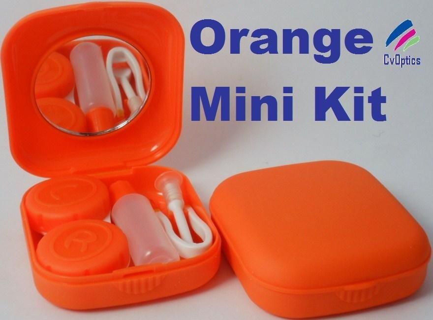 Orange Mini Contact Lenses Storage Lens Travel Kit