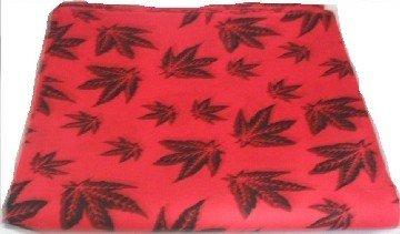 Red Cannabis Marijuana Leaf Bandana Head Scarf