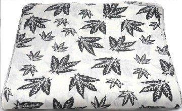 White Cannabis Marijuana Leaf Bandana Head Scarf