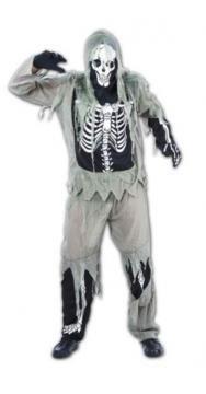 Skeleton Zombie Fancy Dress Halloween Costume