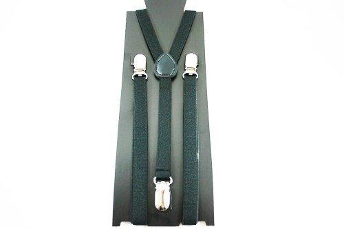 Unisex Plain Black 15mm  Fashion Braces