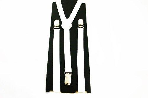 Unisex Plain White 15mm  Fashion Braces