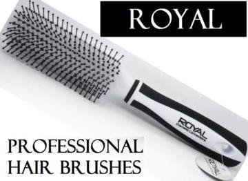 White Royal Cosmetic Connections Standard Hair Brush