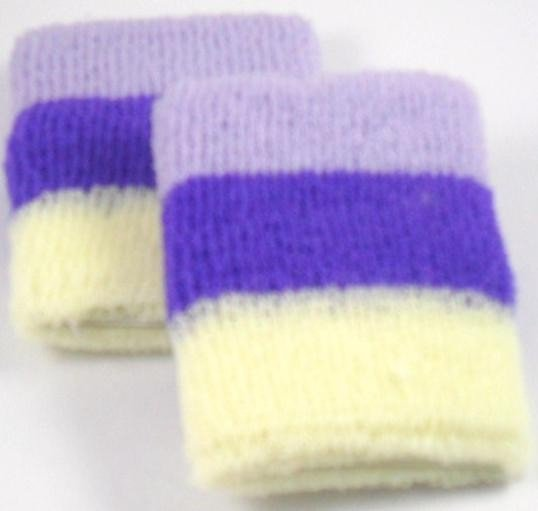 Purple White and Lilac Striped Design Sweatband