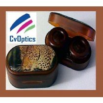 Leopard Endangered Species Contact Lens Soaking Case