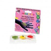 Snazaroo UV Party Paint 3 Colour Kit