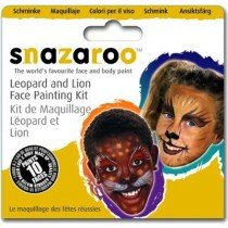 Snazaroo Face Painting Kit For Ten Faces - Leopard and Lion