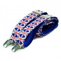 Unisex Printed Union Jack Fashion Braces