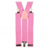 Unisex Plain Baby Pink 38mm Fashion Braces