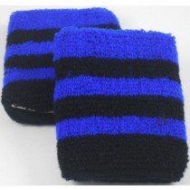 Black and Blue Striped Sweatband / Armbands
