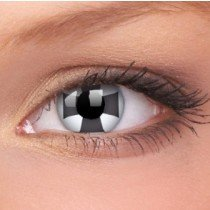 ColourVue Black Cross Crazy Contact Lenses