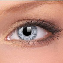 ColourVue Black Spiral Crazy Contact Lenses