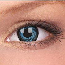ColourVue Blue/Black Tornado Crazy Contact Lenses