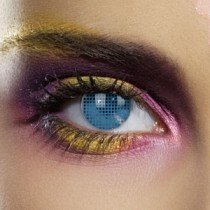 Edit's Colour Vision Range Blue Mesh Contact Lenses