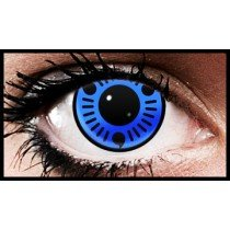 (90 Day Wear) Blue Sasuke Naruto Anime Coloured Contact Lenses