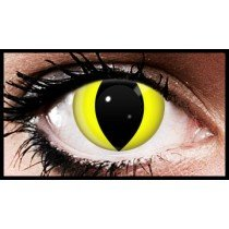 90 Day Wear Yellow Cats Eye Cosmetic Contact Lenses