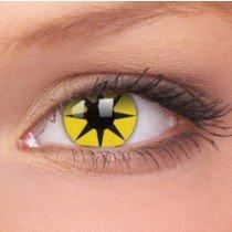 ColourVue Yellow Star Crazy Contact Lenses