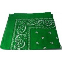 Dark Green Paisley Bandana Head Scarf