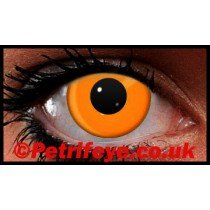 Orange Neon UV Reactive Coloured Contact Lenses