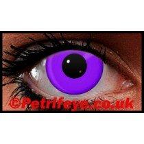 Purple Neon UV Reactive Coloured Contact Lenses