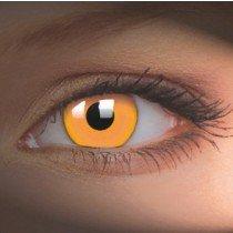 ColourVue Orange UV Glow Crazy Contact Lenses