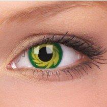 ColourVue Yellow/Green Tornado Crazy Contact Lenses