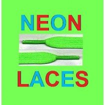 New Green Neon Laces For Shoes, Boots, Pumps & clubing