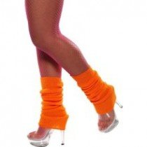 Fancy Dress Or Clubbing Legwarmers Neon Orange