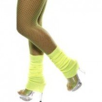 Fancy Dress Or Clubbing Legwarmers Neon Yellow
