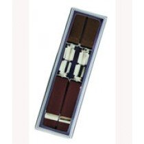 Men's Hardwearing Wine 25mm Fashion Braces