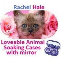 Kitten In Roses Rachel Hale Contact Lens Soaking Case